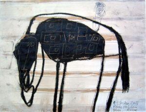 Mit der Zeit Pferde stehlen gehen, 2002, 50x65cm