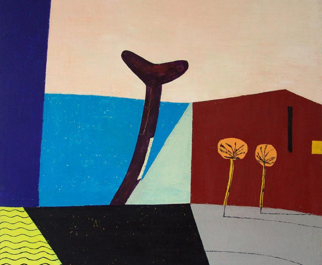 Unter Palmen, Öl auf Leinwand, 2008