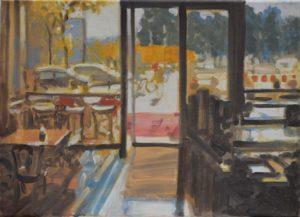 2020-06, Moritz Hasse, Berlin, Cafe in Mitte, 40x55cm