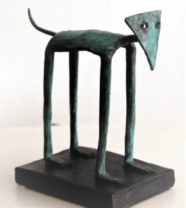 Albrecht Genin, Hundekarneval, Bronze 2017, 16x15x9, Auf 9