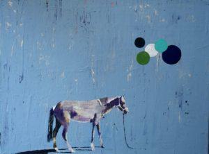 Ulrike Hogrebe, Pferd, Oel auf Lwd, 30x40cm
